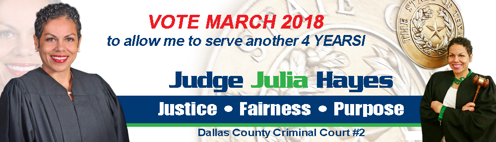 Judge Julia Hayes | Dallas County Criminal Court #2